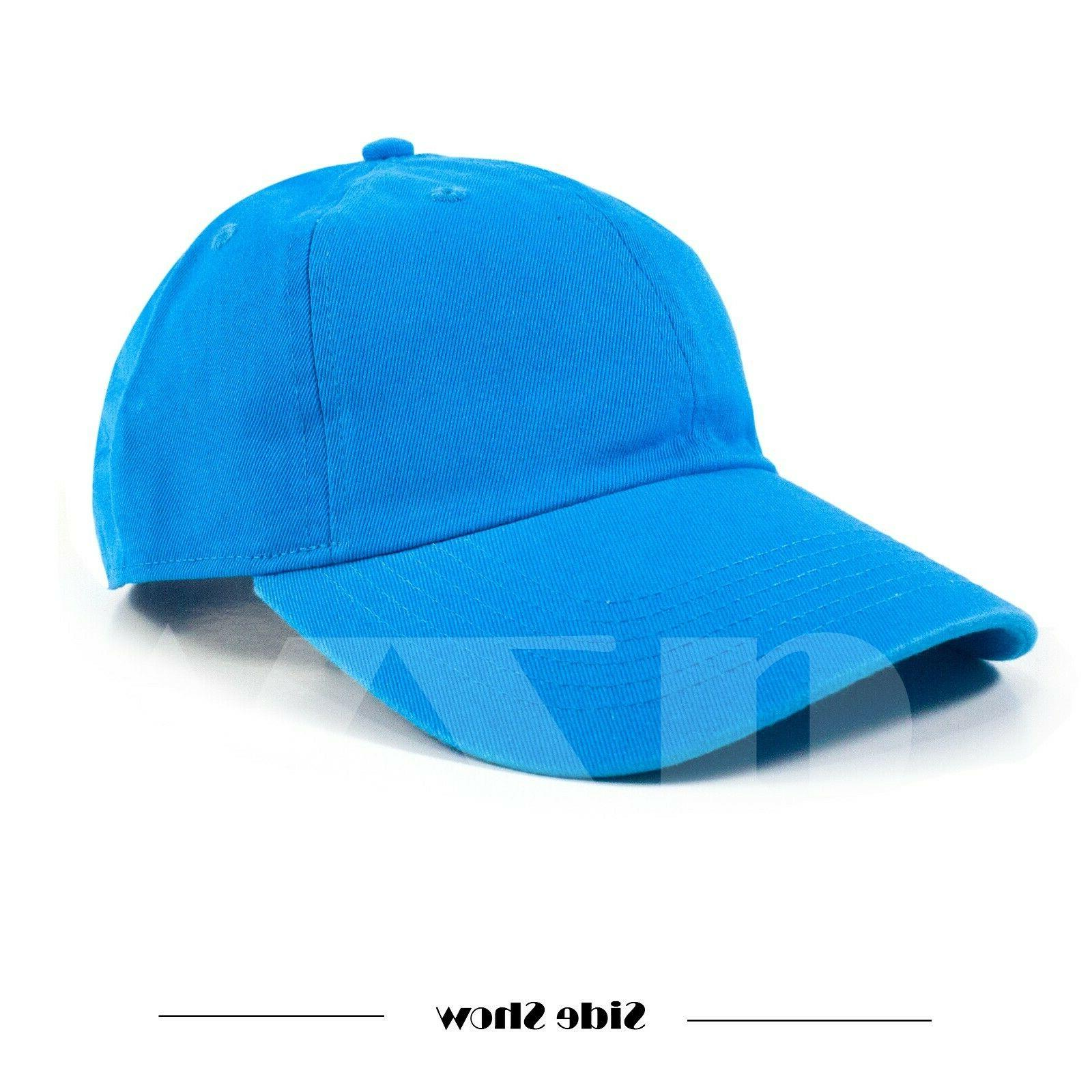 Polo Style Adjustable Solid Washed Hats Baseball Ball Dad Mens