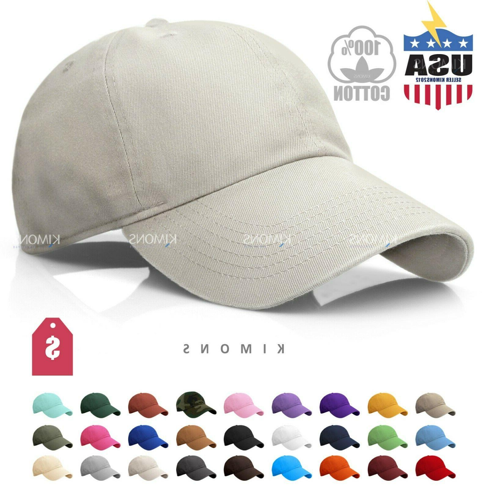 Men Womens Plain Washed Cotton Polo-Style Baseball Ball Cap Caps Hat Adjustable