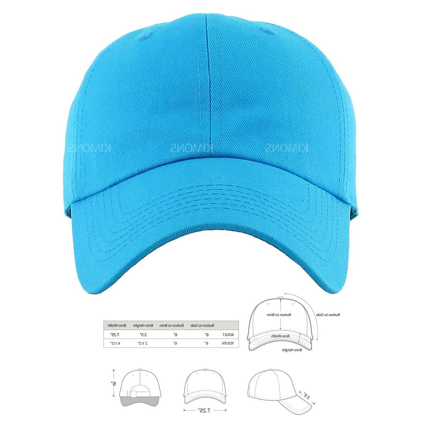 Polo Cap Ball Dad Hat Plain Solid Washed Mens