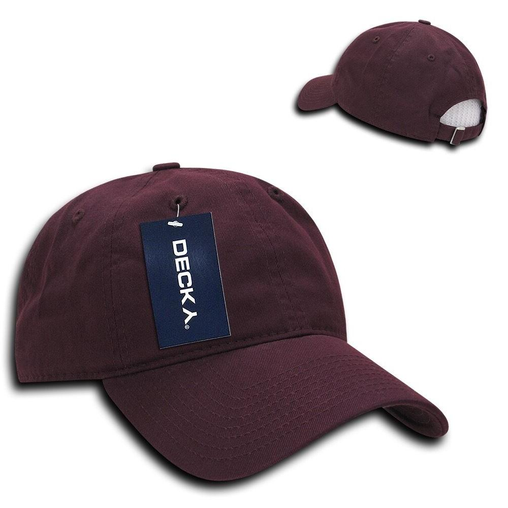 Decky Relaxed Soft Crown Dad Caps Washed 6 Panel