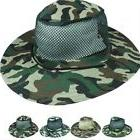 Safari Hat Men Women Summer Mesh Top with Cord Shade Wide Br