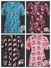 New>Scrubs> Betty Boop Mock Wrap/V neck Print Scrub Top 4 St