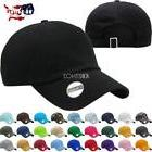 Solid Plain Washed Dad Hat Cotton Polo Style Baseball Ball C