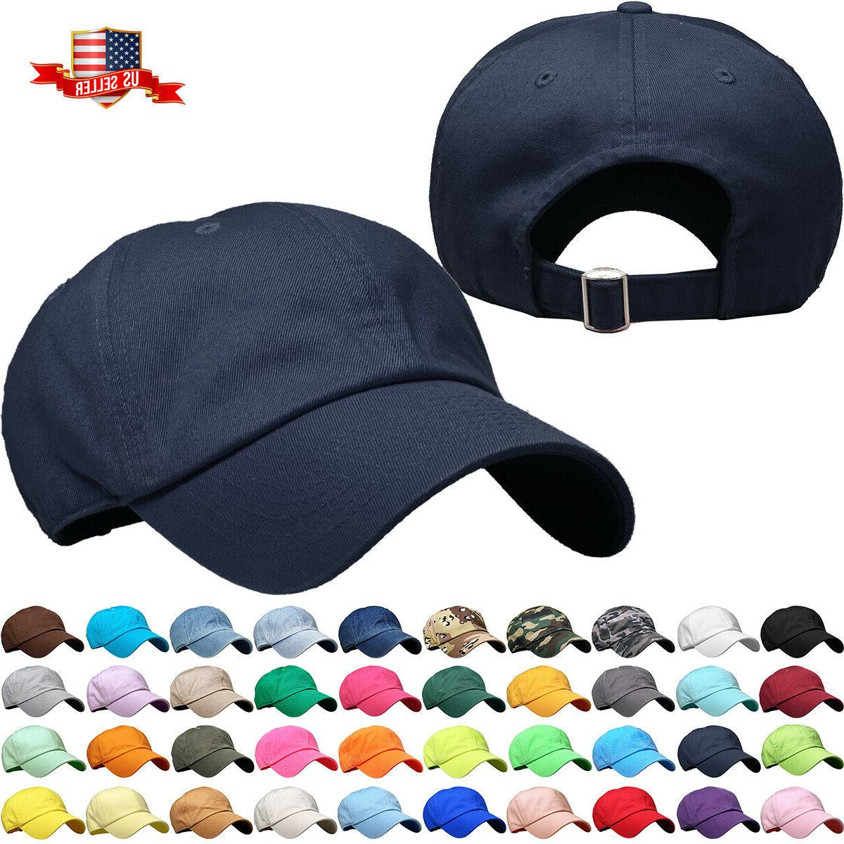 solid plain washed dad hat cotton polo