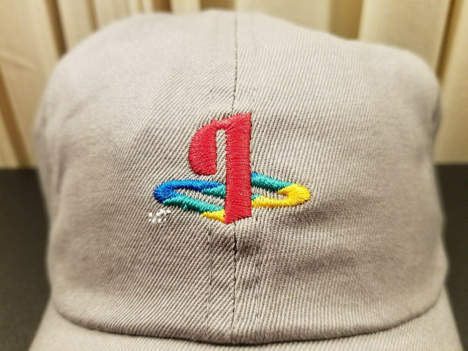 Sony Playstation Embroidered Dad Grey