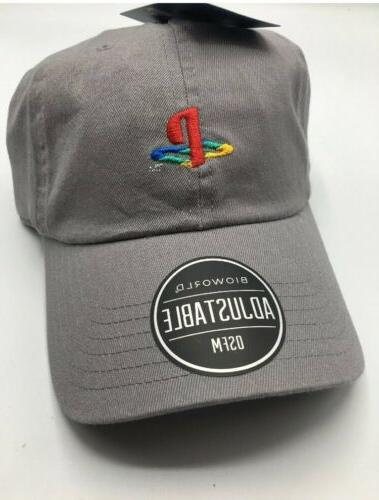 sony playstation logo embroidered hat dad cap