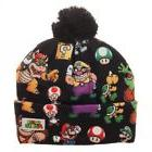 Super Mario Brothers Sublimated Print Beanie Hat Cuff Pom Bo