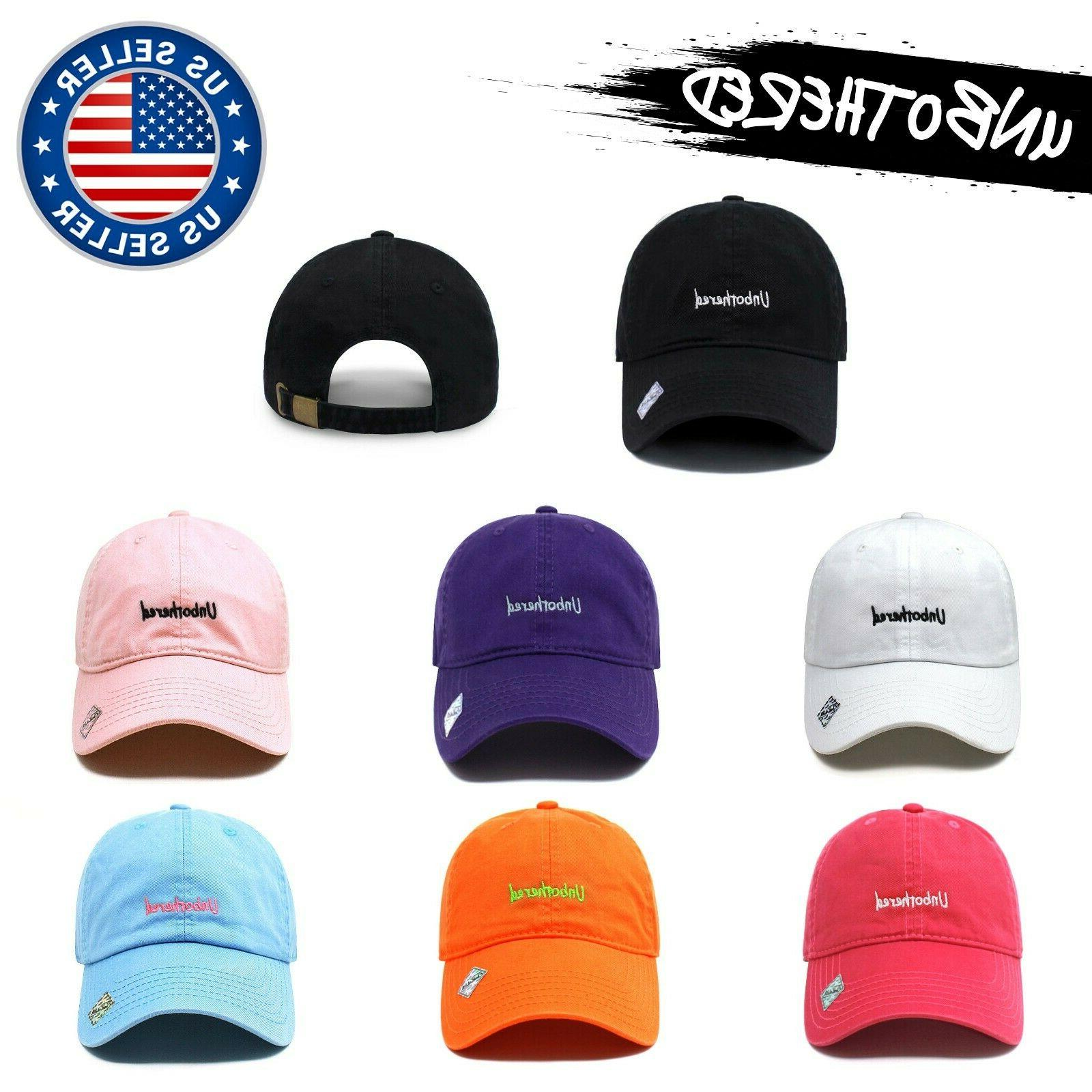 unbothered dad hat cotton baseball cap polo