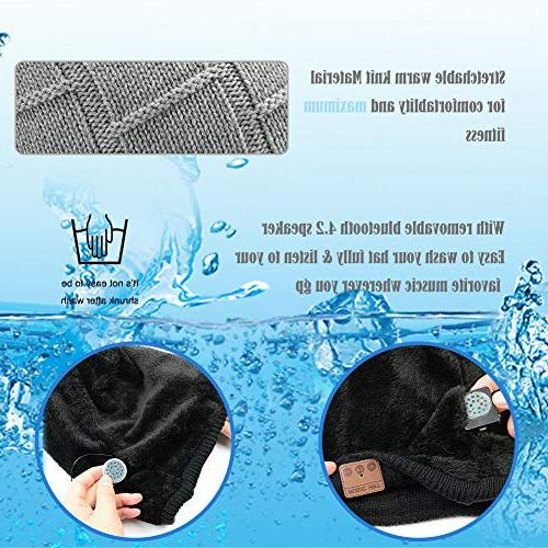 Muscleboon Upgraded Unisex Bluetooth Beanie Unique Christmas Tech for Boys/Girls Stocking Stuffer Speakers SB