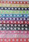 """VOLLEYBALL RIBBON - 7/8"""" X 1YD GROSGRAIN RED PINK BLUE BLACK"""