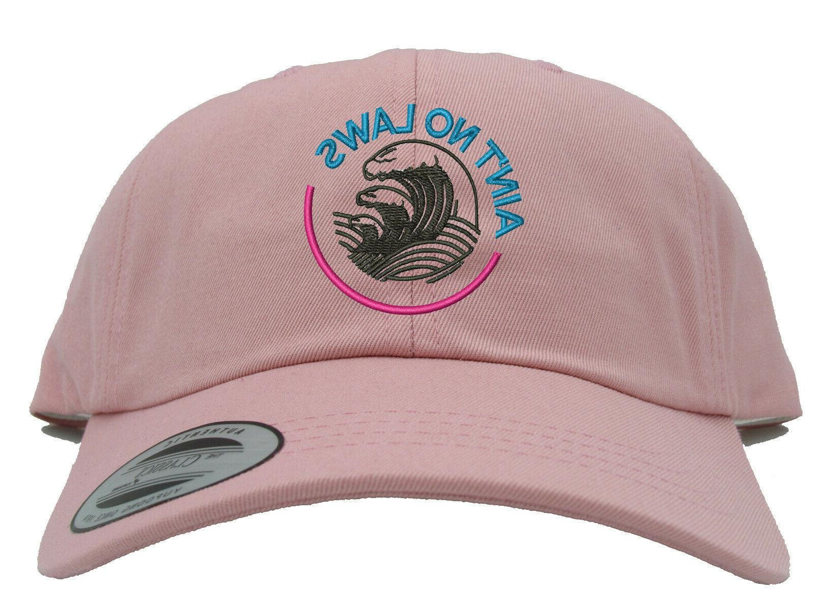White Laws When You're Claws Embroidered Hat