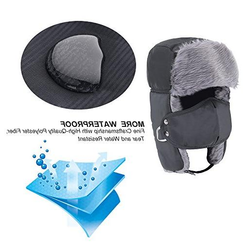 Prooral Trapper Hat Hunting Hat Ushanka Flap Strap and Nylon Russian Men
