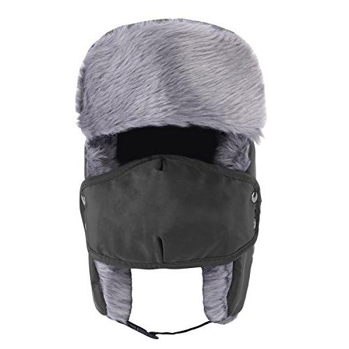 Prooral Unisex Winter Trooper Trapper Hat Ushanka Ear Flap Chin Strap Nylon Style Ear Flap for Men Women