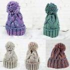 Winter Warm Women Men Knit Wool Crochet Cap Ski Beanie Ball