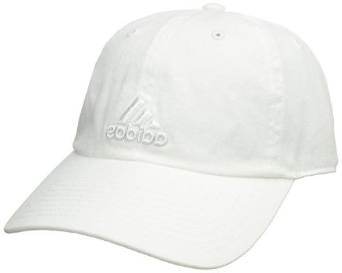 adidas Adjustable Cap, White/White, Size