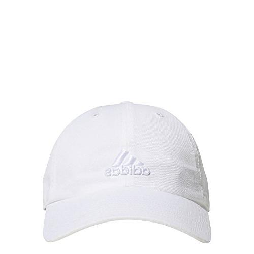 women s saturday relaxed adjustable cap white