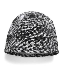 Under Armour Women's Layered Up! Beanie, Black/White, One Si