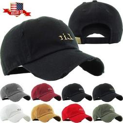 Lit Embroidery Dad Hat Cotton Adjustable Baseball Cap Uncons