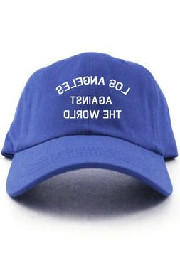 Los Angeles Against The World Dad Hat Baseball Cap Dodgers N