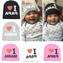 Love Mom & Dad Kids Baby Toddler Boys Girls Cotton Hats Warm