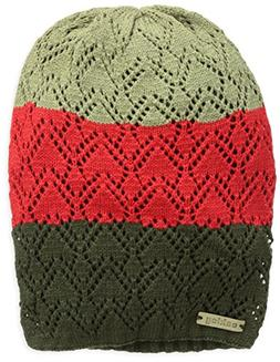 Oakley Women's Lutsen Stripe Beanie, Dark Brush, One Size