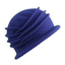 Made in Canada. Parkhurst Isabel Wool Cloche. Sapphire, one