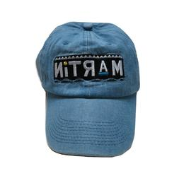 Martin 90s Embroidered Baseball Cap Dad Hat BLUE