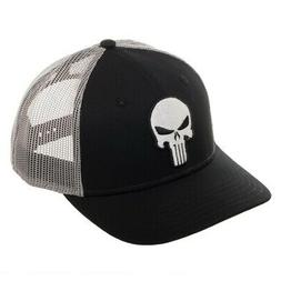 Marvel Comics Punisher Skull Bioworld Trucker Snapback Hat A