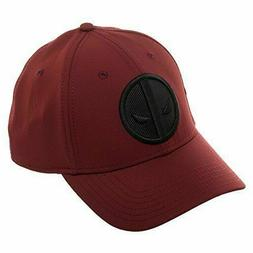 Bioworld Marvel Deadpool Logo Flatbill, Black Patch Insignia