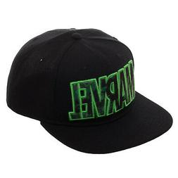 Marvel Green Hulk Logo Black Snapback Hat NEW Clothing Cap B