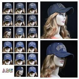 Men's Baseball Cap Hat Plain Denim Jean