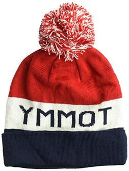 Tommy Hilfiger Men's Cold Weather Cuffed Beanie, red/White/N