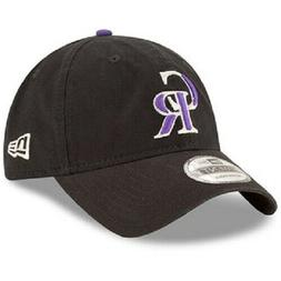MEN'S New Era Core Classic Colorado Rockies Dad Hat-BLACK BR