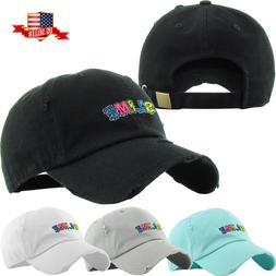 Men's Dad Hat Slime Baseball Cap Cotton Vintage Adjustable