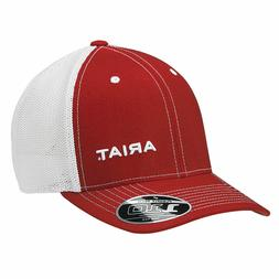 Ariat Men's Flex Fit 110 Red Ball Cap with Pinstripes