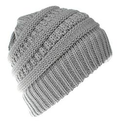 CHIDY Men Women Cute Trend Solid Color Warm Cap Wool Knit Sk