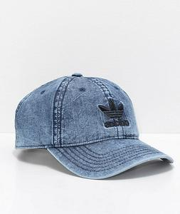 Adidas Mens Originals Relaxed Washed Blue Denim Black Strapb
