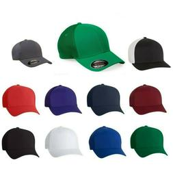 FLEXFIT Mens Trucker Cap with Mesh Sides And Back Fitted Hat