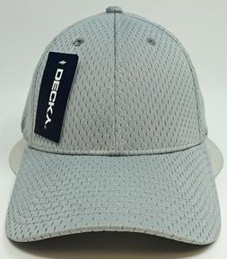 DECKY Mesh Jersey Flex Fit Cap Perforated Dad Hat Curved Vis