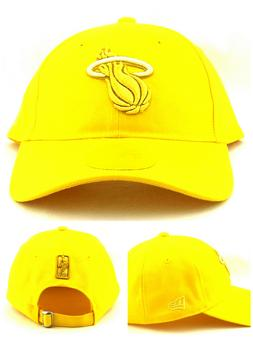 Miami Heat New Era 9Twenty Dad Slouch Clean Up Colors Yellow