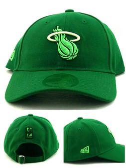 Miami Heat New Era 9Twenty Dad Slouch Clean Up Colors Green