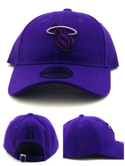 Miami Heat New Era 9Twenty Dad Slouch Clean Up Colors Purple