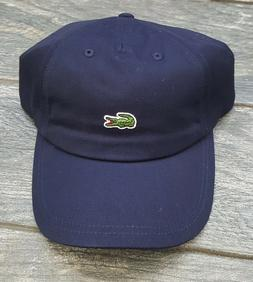 5e3351e260d Editorial Pick LACOSTE MINI CROC LOGO BASEBALL ADJUSTABLE DAD HAT CAP NAVY