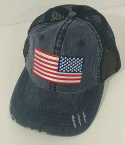 Mitchell & Ness American Flag USA Patriotic Soft Dad Hat Cap