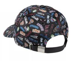 Mitchell & Ness NBA Hat Adjustable All Over Black Dad Cap #N