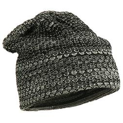 Multi Pattern Reversible Beanie - Black OSFM