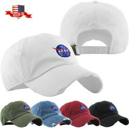 Nasa Insignia Embroidery Dad Hat Baseball Cap Unconstructed