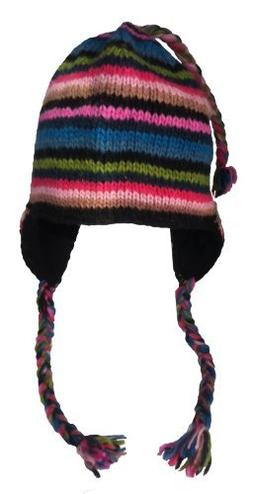 Nepal Hand Knit Sherpa Hat with Ear Flaps ba3916ae2f11
