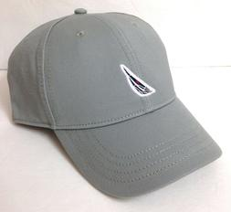 new$25 NAUTICA HAT Gray Navy Blue Curved Bill Semi-Structure