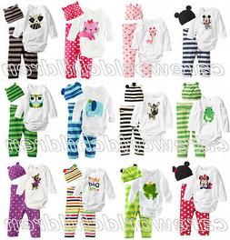New 3 PCS Cartoon Boys Girls Baby kids Toddler outfit Pants